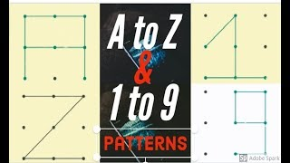 Draw A TO Z Alphabets in pattern lock