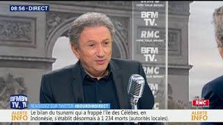 """Charles Aznavour a été """"beaucoup affecté"""" par la mort de Johnny, assure Michel Drucker"""