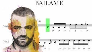 Báilame - Nacho - Partitura violín y guitarra