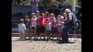 "GEOFF ALLEN AND THE BLUE BAND WITH THE CHILDREN AT TWIN PINES PARK 20`13""."