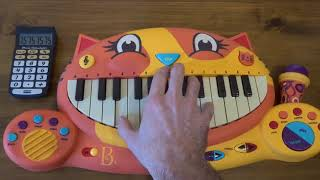 TO BE CONTINUED MEME SONG ON A CAT PIANO AND A DRUM CALCULATOR