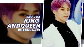 EXO CBX • King and Queen | Line Distribution — Request #25.6