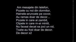 Andreea Balan feat Criss Blaziny - Decor lyrics