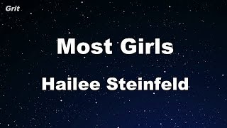 Most Girls - Hailee Steinfeld Karaoke 【No Guide Melody】 Instrumental