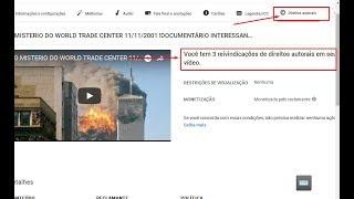 Fui obrigado a excluir o video O MISTERIO DO WORLD TRADE CENTER  LINK DO MESMO VIDEO NA DESCRICÃO
