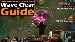 ►Katarina Guide: How to PROPERLY wave clear minions with Katarina | League Of Legends