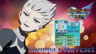 Gamma's Moveset in Inazuma Eleven Go Strikers 2013