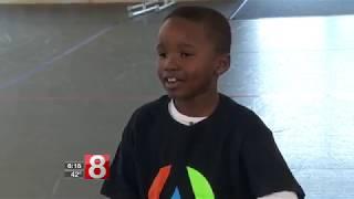 2nd Grade Student destroys police officer in a dance battle. TIGEREYE DANCE