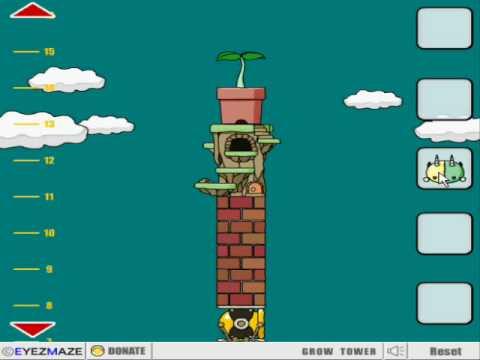 Grow Tower Walkthrough - game by Eyemaze.com