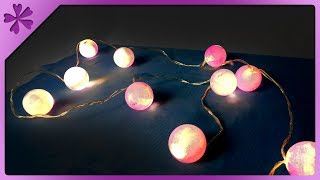 DIY How to make ping pong ball lights (ENG Subtitles) - Speed up #411