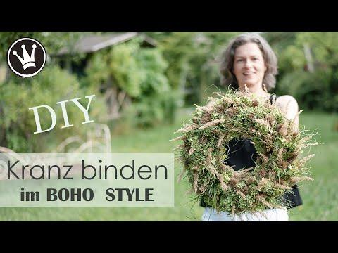DIY – KRANZ BINDEN im Boho Style | aus Naturmaterial | Spätsommer- und  Herbstdeko | DekoideenReich
