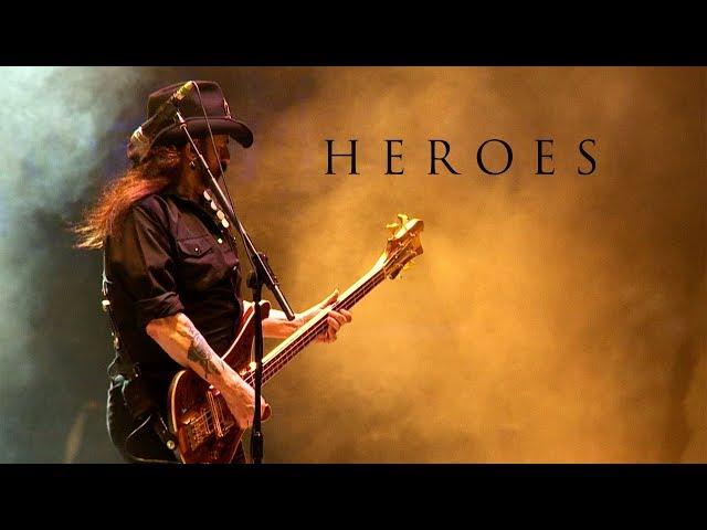Vídeo de la versión de la canción Heroes de Motörhead