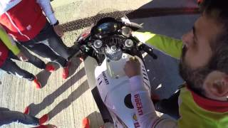 LIVE FROM JEREZ TEST - Drone view warming up Ducati Desmosedici GP