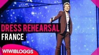 """France: Amir """"J'ai cherché"""" grand final dress rehearsal @ Eurovision 2016"""