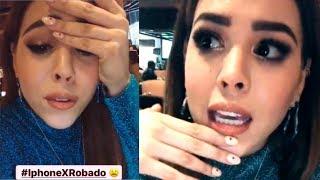 Danna Paola llora la pérdida de su Iphone X y pide que se lo devuelvan