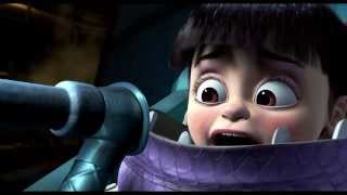 Monsters Inc. Mary gets frightened by the scream extractor machine