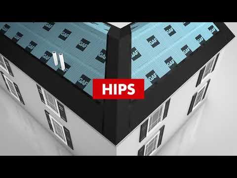GAF Pro Series Starter Strip Shingles Valley Hip Install