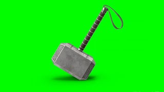 Green Screen Thor Mjolnir