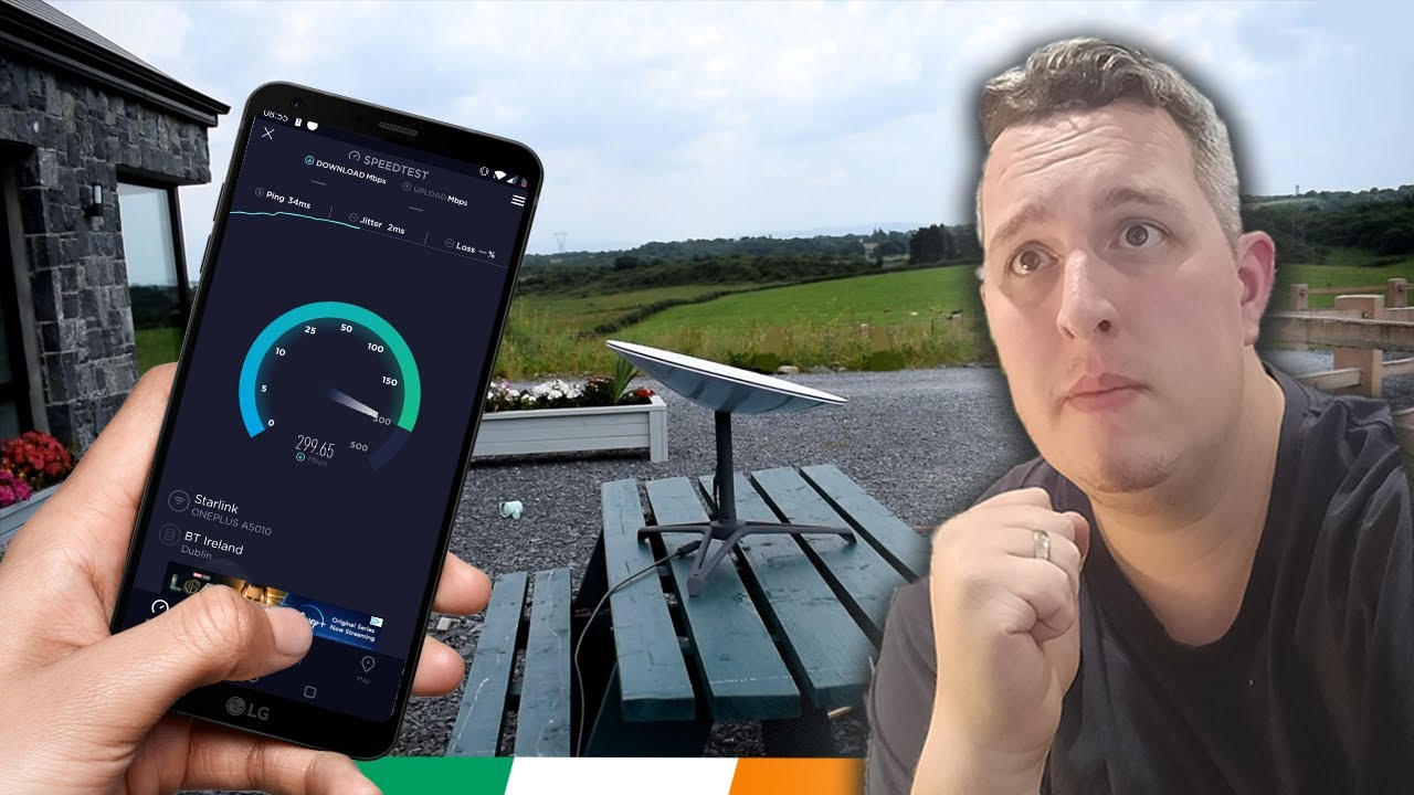 SpaceX – Starlink Review in Ireland. Starlink Internet Speed Tests in the West of Ireland