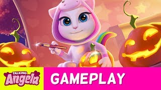 Talking Angela - Unicorn Halloween Party in 5 Steps