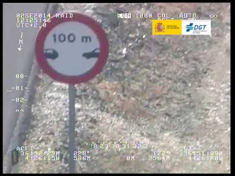Un camionero infringe la distancia de seguridad