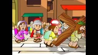 Cantinho da Criança - Jesus carrega a cruz