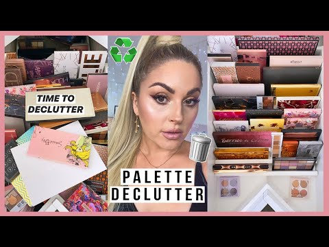 Neutral Eyeshadow Palette Declutter ?? HUGE MAKEUP ORGANISATION 2020