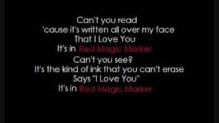 Red Magic Marker - Amanda Marshall (w/Lyrics)