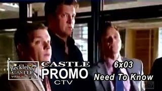 "Castle 6x03 Promo CTV  ""Need To Know""  (improved video)"