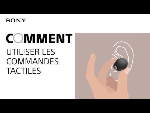Comment utiliser les commandes tactiles des écouteurs WF-1000XM4 Sony
