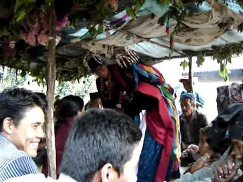 Nepal spring festival dance in small village