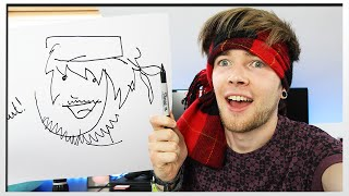 DRAWING THINGS BLINDFOLDED!!