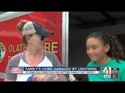 13-year-old saves the day for Olathe family