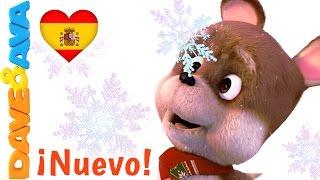 ❄️ Canciones Infantiles | Canciones de Navidad en Español de Dave y Ava | Diez Copos de Nieve ❄️