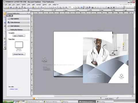Changing Page Size and Resizing Graphics in Microsoft Publisher