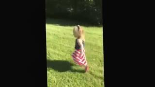 Running away laughing