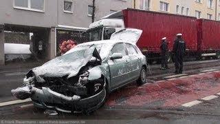 NRWspot.de | Hagen, Verkehrsunfall PKW vs. LKW, ein Verletzter