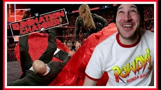 REACTION | ROWDY RONDA ROUSEY PUTS HHH THROUGH A TABLE!!! | WWE Elimination Chamber 2018 Feb 25 2018