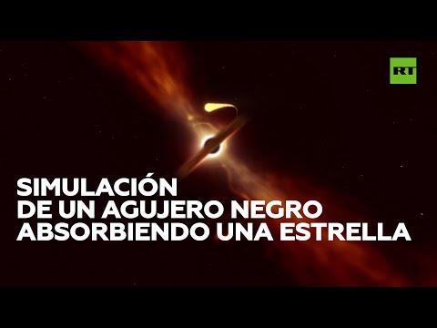 Simulan cómo un agujero negro absorbe una estrella