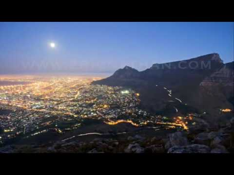 Full Moon rising over Cape Town