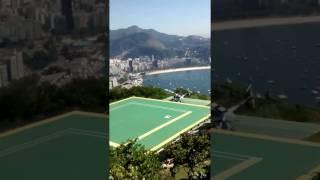 Helicóptero decolando - heliponto pão de açucar/RJ