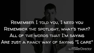 Nick Jonas Ft. Mike Posner & Anne-Marie - Remember I Told You (Lyric Video)