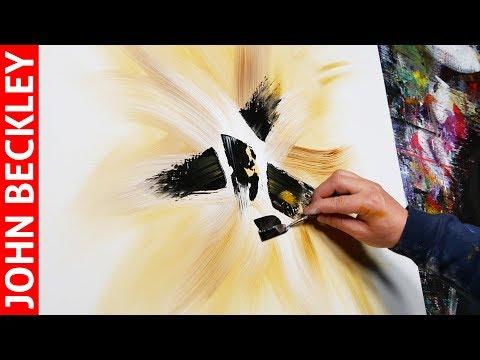 Peinture Abstraite au Couteau à l'Acrylique  | Helios