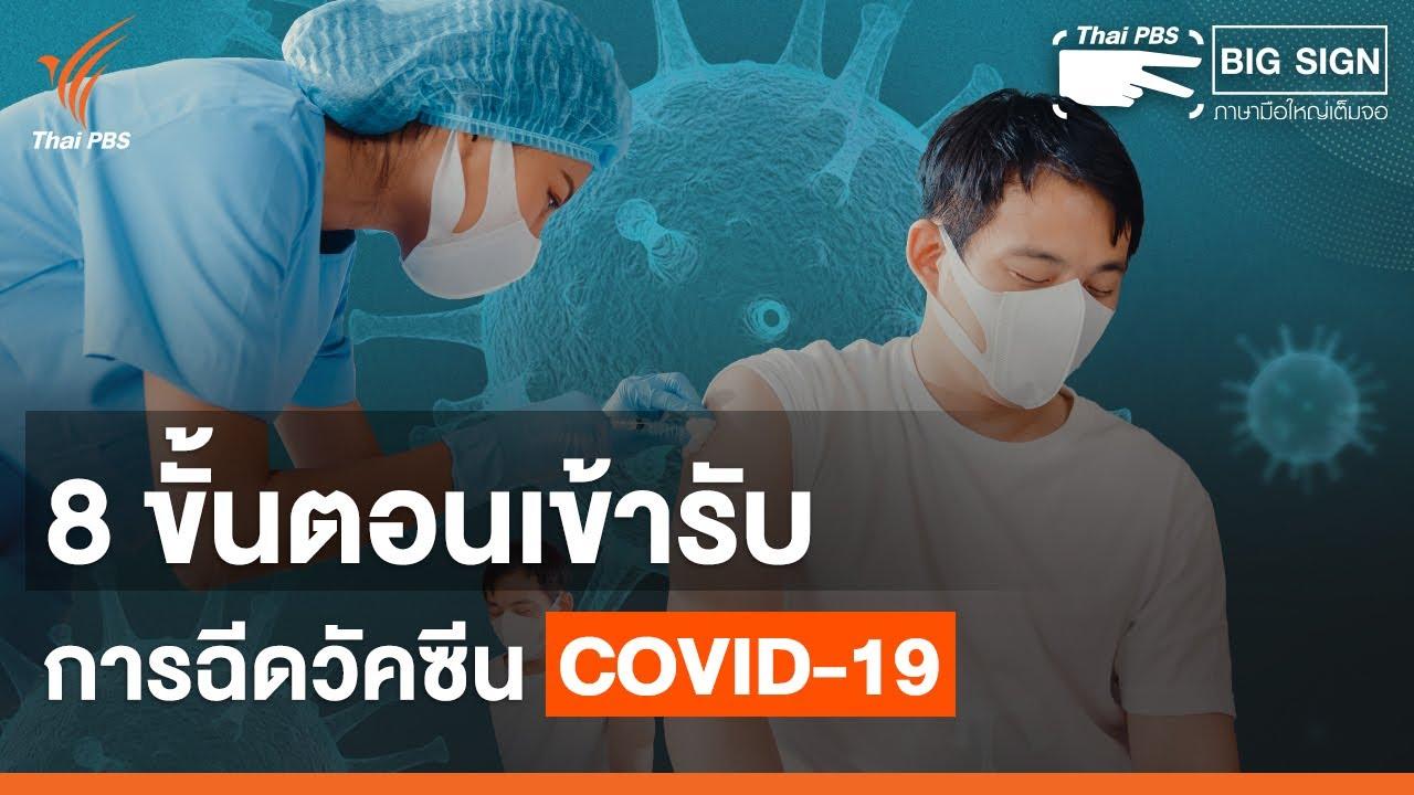 8 ขั้นตอนรับวัคซีนป้องกันโควิด-19