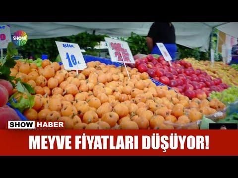 Meyve fiyatları düşüyor!