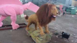 Animatronic animal life size lion robot alive  for  exhibition