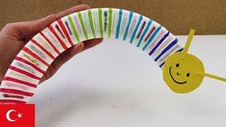 Kağıttan Tırtıl Nasıl Yapılır? 🐛- Kendin Yap Origami Projeleri Türkçe!