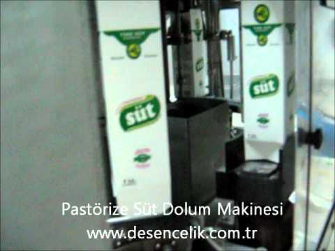 Pastörize Süt Dolum Makinesi.wmv