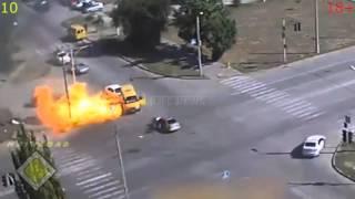 Plynový výbuch plynových lahví v autech