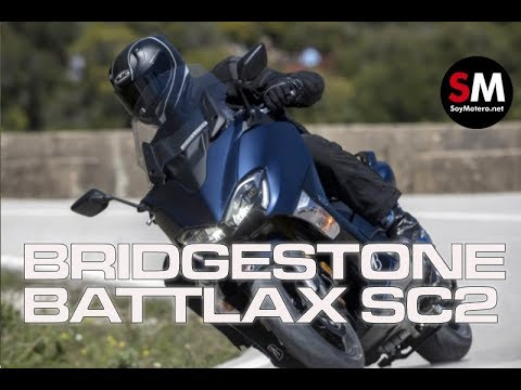 Prueba Bridgestone Battlax Scooter SC2 y SC2 Rain 2018 [FULLHD]